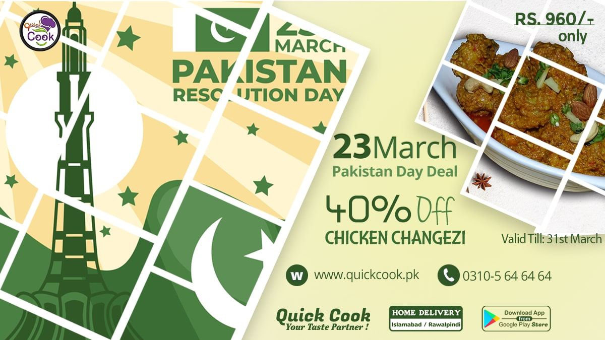 Pakistan Resolution Day Deal by Quick Cook